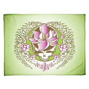 Grateful Dead Green Sugar Magnolia Stealie Coral Fleece Blanket