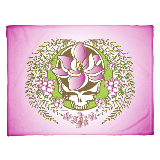 Grateful Dead Pink Sugar Magnolia Stealie Coral Fleece Blanket