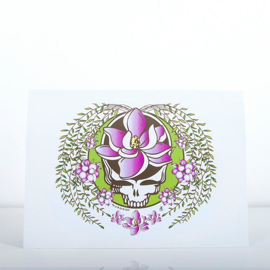 Grateful Dead Sugar Magnolia Stealie Greeting Card