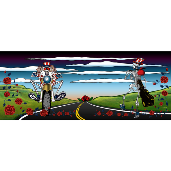 Simple Highway Grateful Dead Fine Art Giclée Print