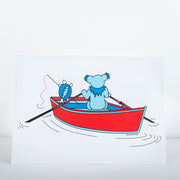 Terrapin & Bear Dinghy Greeting Card