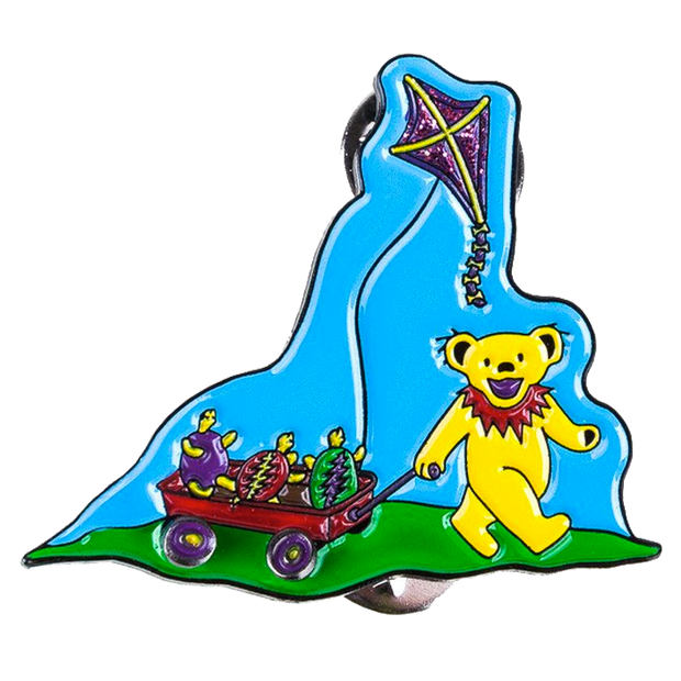 Grateful Dead Terrapin & Bear Red Wagon Pins