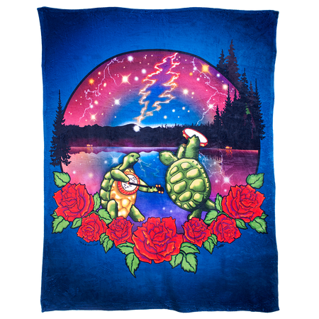 Grateful Dead Terrapin Lake Coral Fleece Blanket
