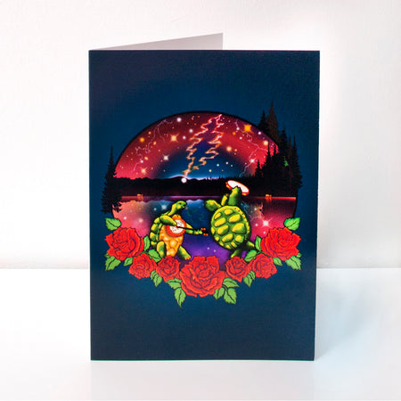 Grateful Dead Terrapin Lake Greeting Card