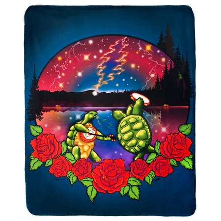 Grateful Dead Terrapin Lake Sherpa Fleece Blanket