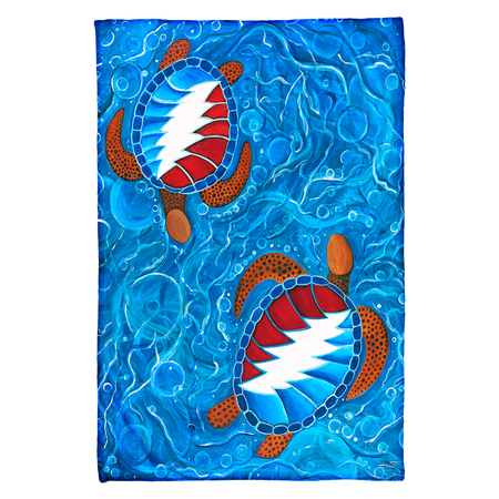 Grateful Dead Swimming Terrapins Coral Fleece Blanket