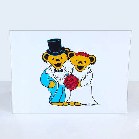 Grateful Dead Wedding Bears Greeting Card