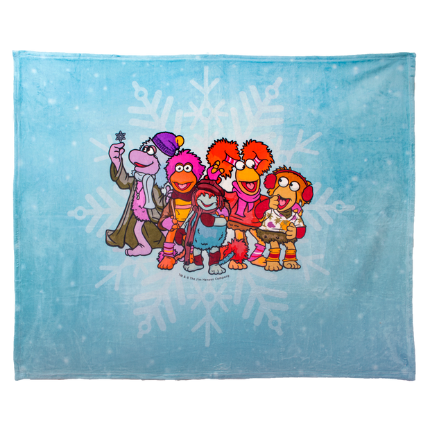 Jim Henson's Fraggle Rock Winter Coral Fleece Blanket