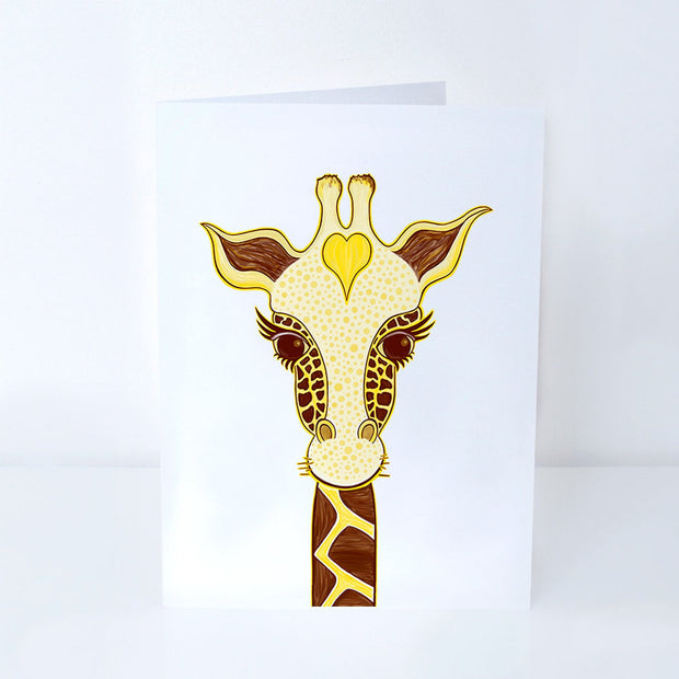 Love Giraffe Greeting Card