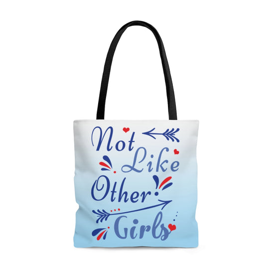 Not Like Other Girls Allover Print Tote Bag