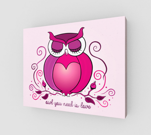 Owl You Need Is Love Wrap Canvas