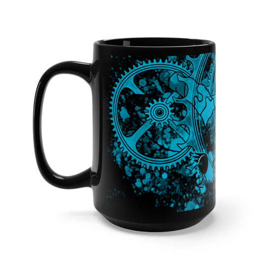 High Gear Antelope Black & Turquoise Ceramic Mug 15oz