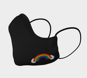 Black Shaped Face Mask with Rainbow