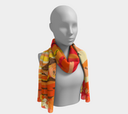 Hawaii Sea Turtle Sunset Scarf