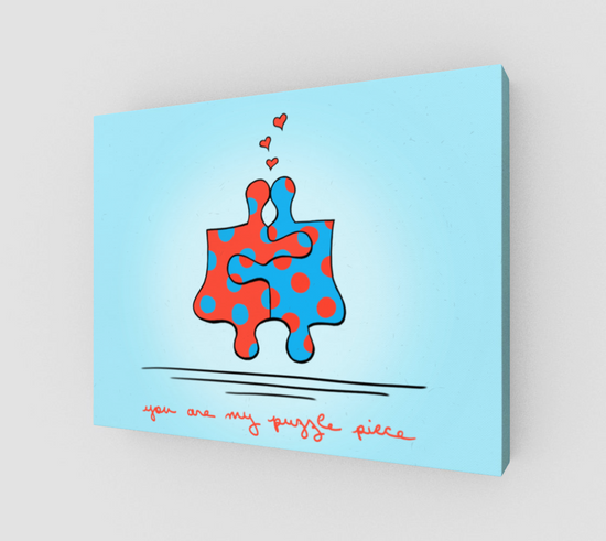 You Are My Puzzle Piece Wrapped Canvas Print