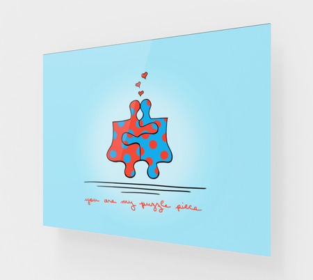 You Are My Puzzle Piece Acrylic Print