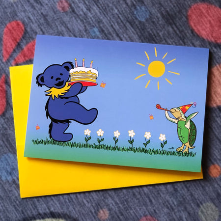 Grateful Dead Birthday Card, Dancing Bear Birthday Card, Social Distancing Birthday Card