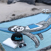 Sloth in a Hammock Woven Cotton Blanket