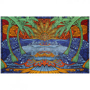 3D Epic Surf Printed Cotton Tapestry