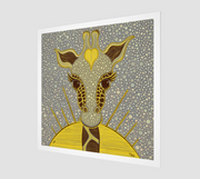Yellow Love Giraffe Fine Art Print