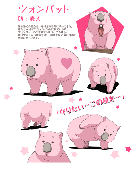 Custom Tailor Made Cosplay Costume Inspired by Wombat from Cute High Earth Defense Club Love!