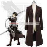 Inspired by Attack On Titan Eren Yeager Levi Ackerman Cosplay Costume