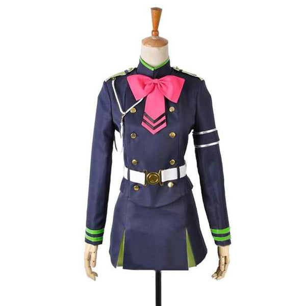 Inspired by Seraph of the End Shinoa Hiragi Cosplay Costume