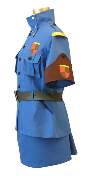 Inspired by Hellsing Seras Victoria Blue Cosplay Costume