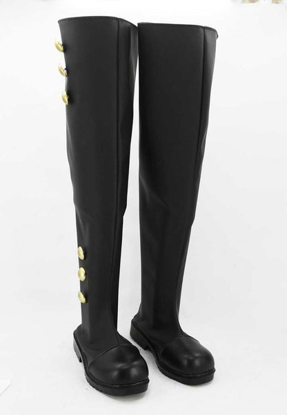 Inspired by Seraph of the End Mikaela Hyakuya / Ferid Bathory Black Cosplay Boots