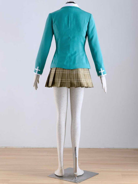 Inspired by Rosario + Vampire Yokai Private Academy Uniform Akashiya Moka Cosplay Costume