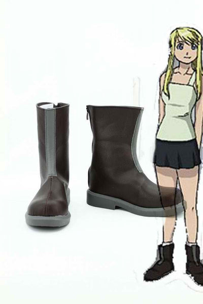 Inspired by Fullmetal Alchemist Winry Rockbell Cosplay Boots