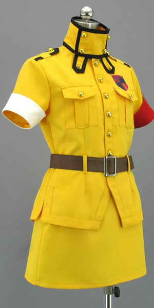 Inspired by Hellsing Seras Victoria Yellow Cosplay Costume