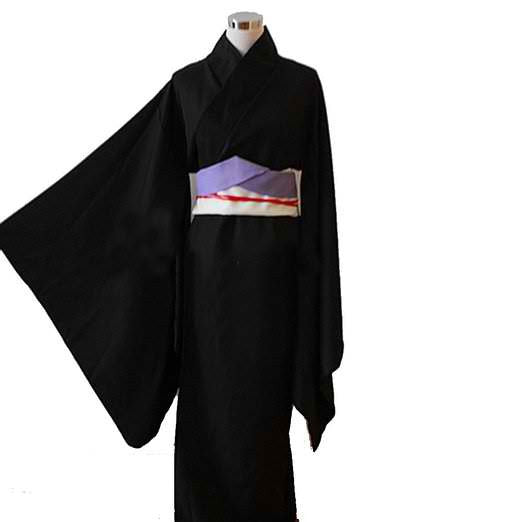 Inspired by Hunter X Hunter Kalluto Zoldyck Black Kimono Costume