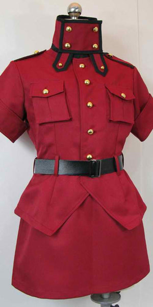 Inspired by Hellsing Seras Victoria Red Cosplay Costume