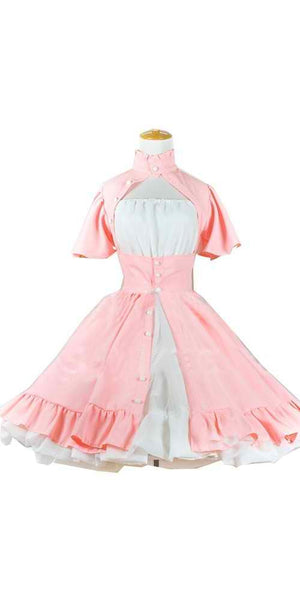 Inspired by Chobits Chi Pink Dress Daily Wear Cosplay Costume