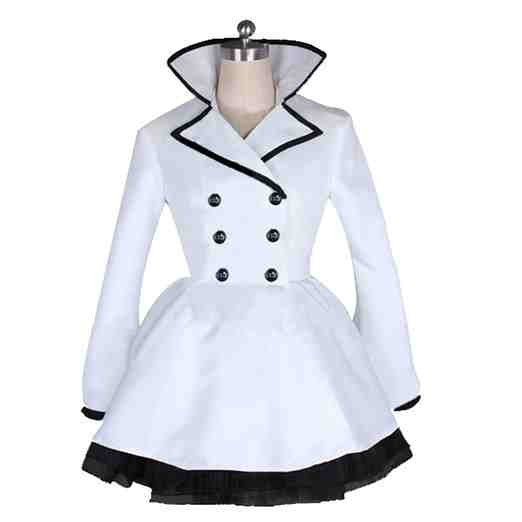 Inspired by RWBY Weiss Schnee Black and White Cosplay Costume