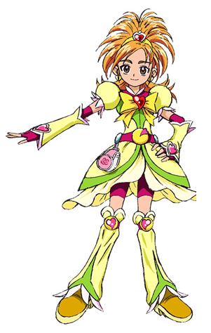 Custom Tailor Made Cosplay Costume Inspired by Cure Bright from Futari wa Pretty Cure Splash Star