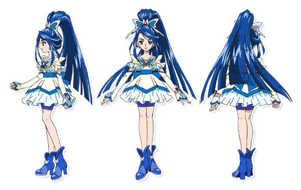 Custom Tailor Made Cosplay Costume Inspired by Cure Aqua from Yes! Pretty Cure 5