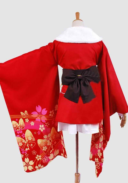 Inspired by Unbreakable Machine-Doll Yaya Red Kimono Cosplay Costume