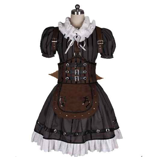 Inspired by Alice: Madness Returns Alice Steam Dress Cosplay Costume - Cosplayful