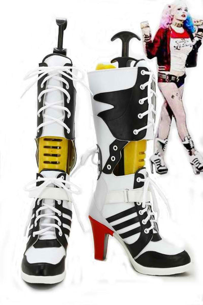 Inspired by Batman Suicide Squad Harley Quinn Cosplay Boots