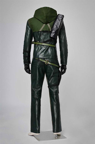 Inspired by Green Arrow Oliver Queen Cosplay Costume - Ver 2