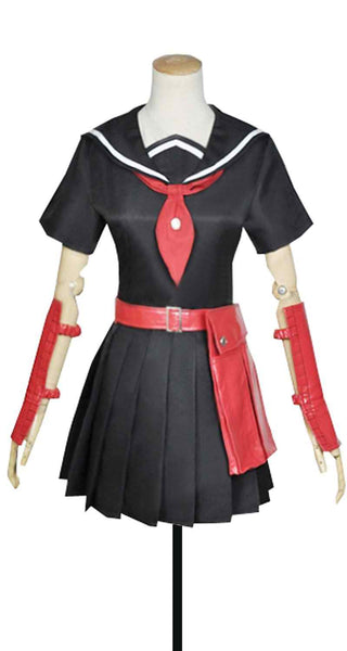 Inspired by Akame Ga Kill! Kurome Uniform Cosplay Costume - Cosplayful