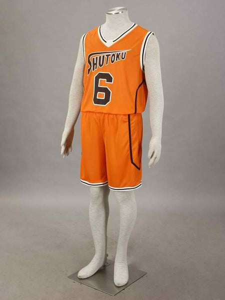 Inspired by Kuroko's Basketball Shutoku Midorima Shintaro #6 Jersey Orange Costume