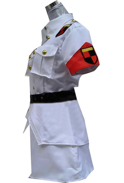 Inspired by Hellsing Seras Victoria White Cosplay Costume