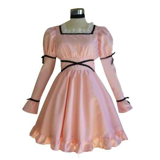 Inspired by Future Diary Uryuu Minene Pink Dress Cosplay Costume
