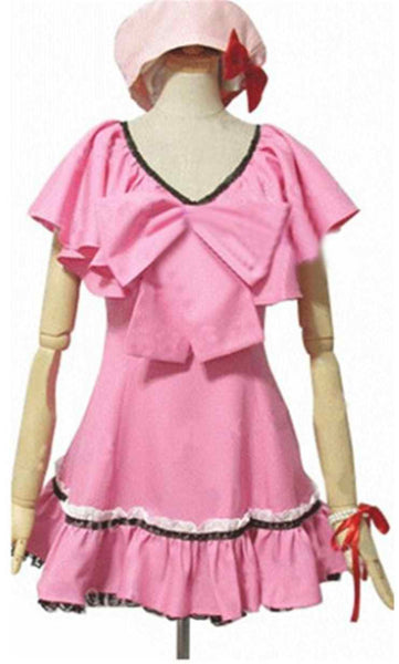 Inspired by Inu x Boku SS Shirakiin Ririchiyo Pink Dress Cosplay Costume