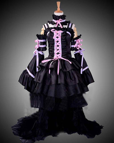 Inspired by Chobits Chi Black Dress Cosplay Costume