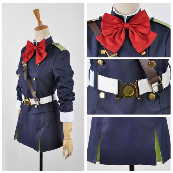 Inspired by Seraph of the End Mitsuba Sangu Cosplay Costume