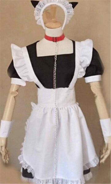 Inspired by Inu x Boku SS Roromiya Karuta Black Maid Cosplay Costume